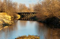 Bridge over Mill Race, the canal that stretches through the Amana Colonies in Iowa. (Photo: Carl Wycoff/CC BY 2.0)