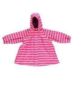 Chubasquero rosa con forma de A