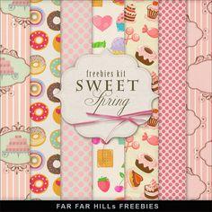 Far Far Hill: New Freebies Kit of Backgrounds - Sweet Spring..yummy.., para descargar desde un servidor