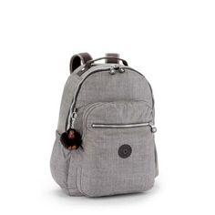 4fccd437f Compre KIPLING : Mochila escolar Seoul Up cinza Jeans Grey Kipling por  R$649,00 - Kipling