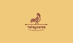 Tin Rooster Line Art Logo by Stefan Ivankovic