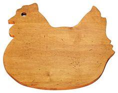 Solid Maple Cutting Board, Hen - casa.com