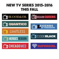 NEW TV Series Fall 2015-2016 Sticker Planner // Perfect for Erin Condren Life Planner by FasyShop on Etsy