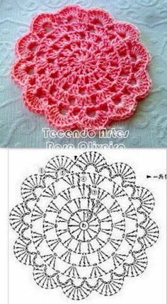 Crochet chart... This would make nice crochet coasters