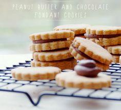 Peanut Butter & Chocolate Fondant Cookies