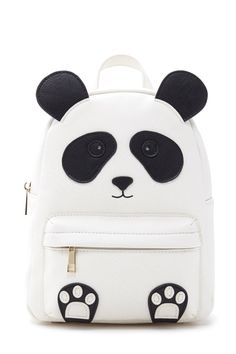 Panda Bear Backpack for my cute panda. Cute Mini Backpacks, Stylish Backpacks, Girl Backpacks, College Backpacks, Leather Backpacks, Mini Mochila, Kawaii Bags, Diaper Bag Backpack, Diaper Bags