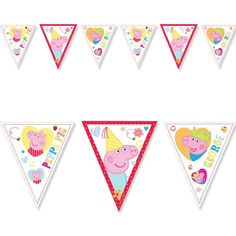 Peppa Pig Party Supplies, Kids Party Supplies, Red Birthday Party, Pig Birthday, Party Tableware, Childrens Party, Banner, Bunting, Flags