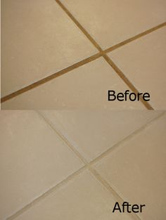 cleaning grout............. Thanks for this, made me smile reading it :)