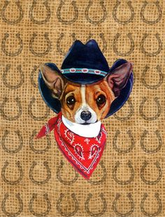 Chihuahua Dog Country Lucky Horseshoe House Vertical Flag