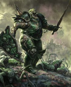 Nurgle Warrior, Daniel Farin on ArtStation. Dark Fantasy, Fantasy Rpg, Medieval Fantasy, Fantasy Artwork, Fantasy World, Fantasy Warrior, Fantasy Battle, Warhammer Fantasy Roleplay, Warhammer 40k Art