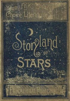 Design inspired by stars - vintage book cover .. stories and heavens #antiquebooks