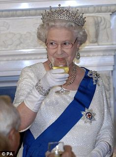 Jancis Robinson has been described as the 'most respected wine critic and journalist in the world' by Decanter magazine and has the privilege of advising the Queen (pictured) on her cellar