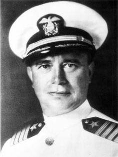 Commander Cassin Young, US Navy Medal of Honor recipient Commanding Officer USS Vestal (AR-4), attack on Pearl Harbor, World War II December 7, 1941. Namesake of USS Cassin Young (DD-793).