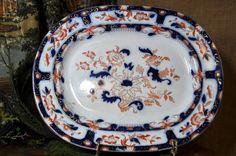 Gaudy Welsh Antique Platter Vintage by souhernsistersjewels, $165.00