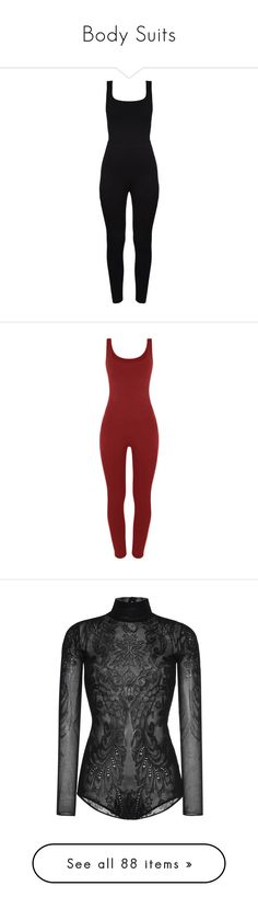 """""""Body Suits"""" by makayla-cheyane-frazier ❤ liked on Polyvore featuring jumpsuits, rompers, bodysuits, playsuits, dresses, playsuit romper, jump suit, cut-out jumpsuits, cutout romper and cutout jumpsuits"""