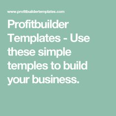 Profitbuilder Templates - Use este simple Tema de Wordpress para impulsar su Negocio en Internet hasta la Estratófera.