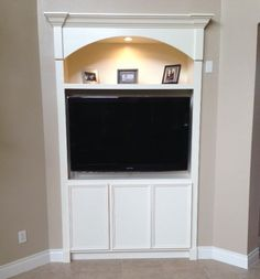 36 Inch Deep Custom Made Media Center Using Kitchen Cabinet   Google Search