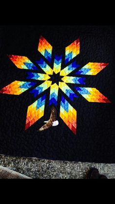 Lone Star Quilt, Star Quilt Blocks, Star Quilt Patterns, Star Quilts, Barn Quilt Designs, Quilting Designs, Half Square Triangle Quilts Pattern, Indian Quilt, Bargello Quilts
