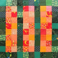 Controlled Chaos Scrap Quilt - block 17
