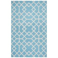 Rizzy Home Blue Rug In Wool 8'x10'