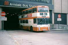 Armadale Bus Station- they were the days working as a Saturday girl in the arndale. The orange buses ♡