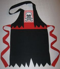 Boy pirate chef apron via etsy Dress Up Aprons, Cute Aprons, Dress Up Outfits, Kids Outfits, Sewing Aprons, Sewing Clothes, Diy Clothes, Pirate Dress Up, Princess Aprons