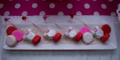 Skewered treats at a  Minnie Mouse Party #minniemouse #treats