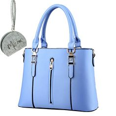 Micom 2015 New Simple Style Zip Leisure Pleather Top Handle Tote Handbags for Women with Micom Zip Pouch (Blue) MICOM http://www.amazon.com/dp/B00YEC7CM4/ref=cm_sw_r_pi_dp_gvgQvb1WFT7B8