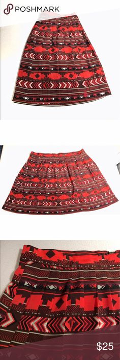 [BOGO 50%] Pleated Tribal Print Skater Skirt Lightly Used | Excellent Condition | Skater Style | Tribal Print | Pleated Look | Zipper on Back | Lightweight | Waist: 30Ins | Length: 16ins | 100% Polyester |🚫 Trades | More 📸 Upon Request | Ask Any Questions Needed To Help With Decision 🙋🏽| Bundles & Offers Are Welcomed ❤️| Volcom Skirts Circle & Skater
