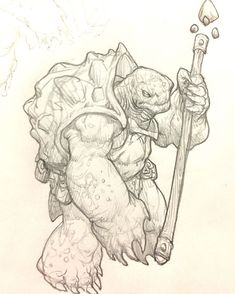 An early Tortle sketch done during a meeting. He was a bit too chunky, so I scrapped him. Fantasy Character Design, Character Drawing, Character Design Inspiration, Art Sketches, Art Drawings, Monster Sketch, Creature Concept, Character Design References, Creature Design