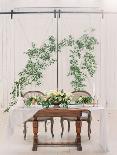 Romantic + rustic wedding decor: http://www.stylemepretty.com/texas-weddings/quinlan-texas/2016/01/07/ethereal-elegant-wedding-inspiration-at-the-white-sparrow-barn/ | Photography: Jessica Gold - http://www.jessicagoldphotography.com/