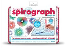 Kahootz-Spirograph Design Set W/Tin. A Fifteen Piece Set With Precision Parts And Pens! The Classic Way To Create Countless Amazing Designs. This Package Contains Seven Spirograph Precision Wheels; One Spirograph Precision Ring; One Spirograph Precision R Design Set, Page Design, Book Design, Original Spirograph, Drafting Tools, Geek Toys, 10 Year Old Girl, Principles Of Art, Products