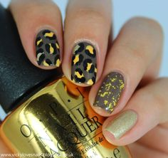 Vicky Loves Nails!: 52 Week Pick & Mix Challenge - Wild Animals/Yellow