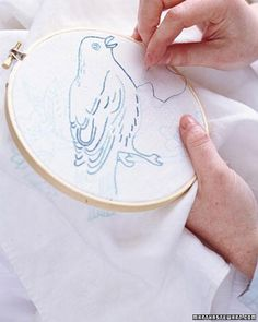 Embroidered Birds  Make personalized gifts by embroidering tea towels or pillows with our beautiful bird designs.