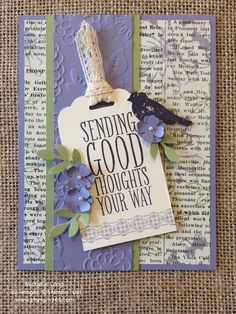 Stampin' Up! get well card. www.stampin365.com