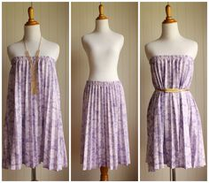 Vintage 70s Lilac Floral Accordion Skirt// Purple by TheRubyOlive, $25.00 Vintage Skirt, Vintage 70s, Accordion Skirt, Tent Dress, Dress Form, Shades Of Purple, Belted Dress, Lilac, High Waisted Skirt