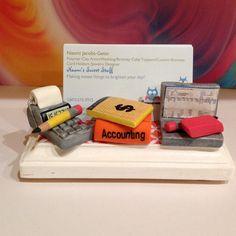 Polymer Clay Business Card Designed For An Accountant Porte Carte De Visite