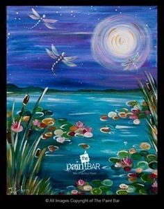 Dancing With Dragonflies Easy Acrylic Painting Tutorial