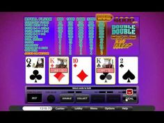 Doube Double Bonus Video Poker - Free Mobile & Online Casino Games - Tab... Video Poker, Online Casino Games, Best Games, Youtube, Free, Youtubers, Youtube Movies