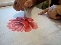 Eliane Nascimento: Minhas dicas de pintura - Rosas - YouTube