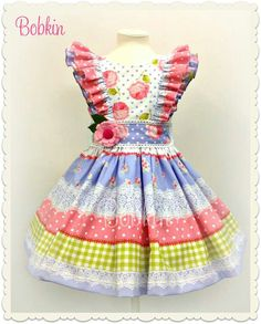 No tute, just inspiration Baby Girl Dresses, Little Dresses, Baby Dress, Doll Clothes Patterns, Clothing Patterns, Pretty Little Dress, Sewing For Kids, Girly Girl, India