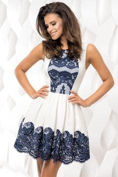 Sukienka plisowana z koronką 2119