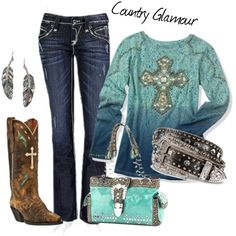 """""""Country Glamour"""" by sandbunny on Polyvore"""