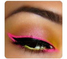 pinclassy♔ on cosmetics  make up  bright eye makeup