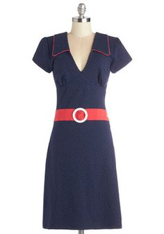 Cute Quick Change Dress in Navy. After your ovation-winning performance, you dont want to waste a moment getting to the cast party. #blue #modcloth