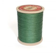 Linen Thread: Green $36.00 This is a great waxed linen thread for leather and leatherworking but also bead making, costume jewelry and even bookbinding.  Check @ www.fineleatherworking.com #fineleatherworking