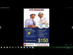 តើអ្នកចង់ក្លាយជាប្រធានគ្រប់គ្រងការដែររឺទេ? Site Manager Course Site Manager, Management