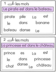 Discover recipes, home ideas, style inspiration and other ideas to try. Kindergarten Vocabulary, Kindergarten Lessons, Vocabulary Activities, Kindergarten Worksheets, French Language Lessons, French Education, French Immersion, Teaching French, Teaching Reading