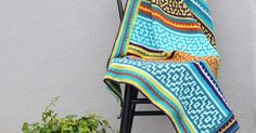 Nya Mosaic Blanket - FREE crochet pattern with only basic sttiches involved.