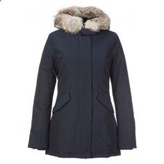 e4bc2aaef93a Woolrich Womens Arctic Parka Warm Fur Trim Down Coats Navy - woolrich  arctic parka women Abbigliamento
